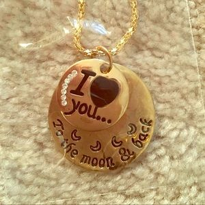 Jewelry - NWT love you to the moon and back pendent